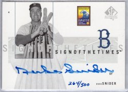 2002 Upper Deck SP Authentic Duke Snider