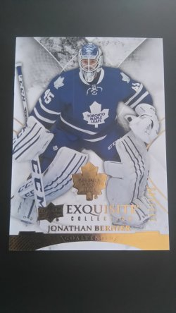 2015-16 Upper Deck Ice Exquisite  #27 Jonathan Bernier