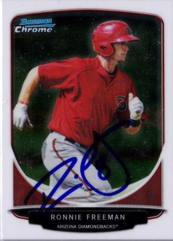 2013 Bowman Chrome Prospects Ronnie Freeman IP Auto
