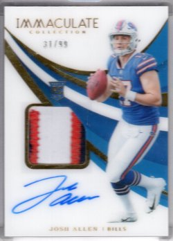 2018 Panini Immaculate Josh Allen Rookie Patch Auto RC
