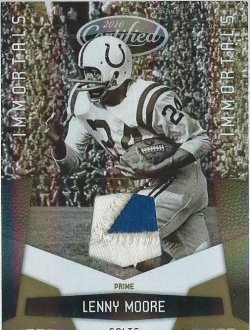 2010 Panini Certified Lenny Moore mirror gold patch