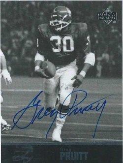 2011 Upper Deck College football legends Greg Pruitt