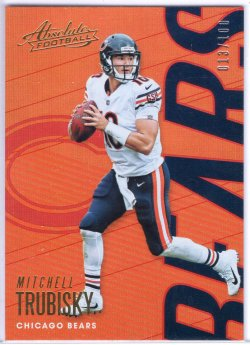 2018 Panini Absolute Mitchell Trubisky Base Spectrum Red