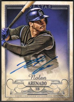 2016   Nolan Arenado Topps Five Star Silver Parallel Auto SP