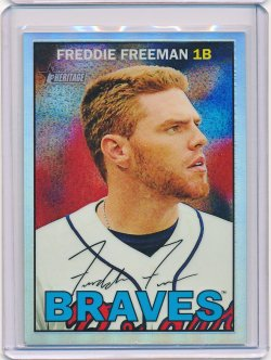 Freddie Freeman 2016 Topps Heritage Chrome Refractor /567