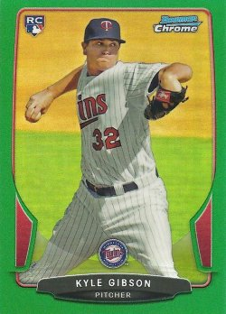 2013 Bowman Chrome Green Refractor Kyle Gibson