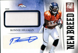 2012 Playoff Elite New Breed Jersey Auto Ronnie Hillman Rookie