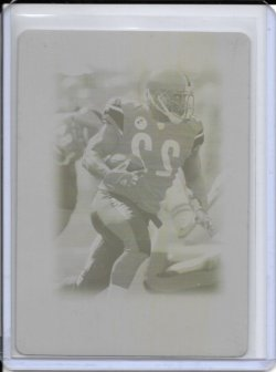 2005 Topps Chrome Yellow Printing Plate - Duce Staley