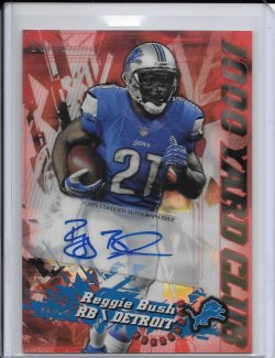 2014 Topps Chrome 1000 Yard Club Red Refractor Autograph - Reggie Bush