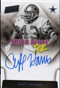 2018 Panini Gold Standard Cliff Harris Super Bowl Signatures