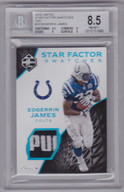 2016 Panini Limited Star Factor Swatches Tag Edgerrin James
