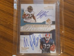2009  SP Authentic (Chirography) Marshawn Lynch / Maurice Jones Drew
