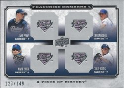 2008 UD A Piece of History Franchise Members Quad Silver