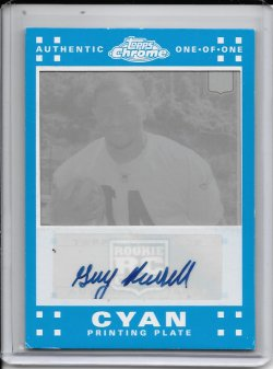 2007 Topps Chrome Cyan Printing Plate Autograph - Gary Russell