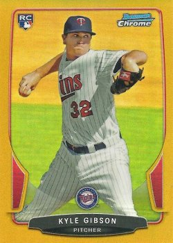 2013 Bowman Chrome Gold Refractor Kyle Gibson