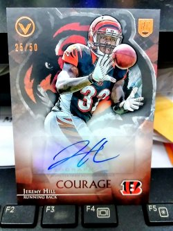 2014 Topps Valor Jeremy Hill Rookie Autograph Courage Parallel