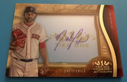 2017 Topps Tier One  David Price Clear One Autograph