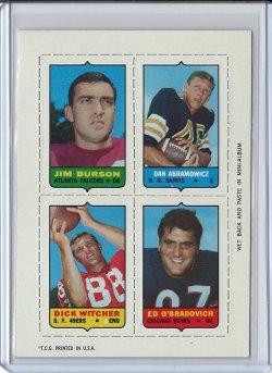 1969 Topps 4-In-1 Dan Abramowicz
