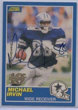 1999 Score 10th Anniversary Reprints Autographs Michael Irvin