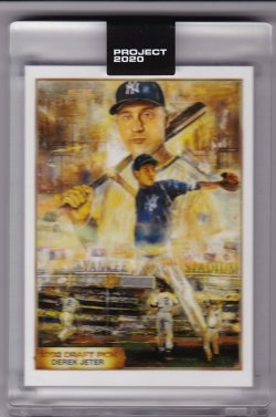 2020 Topps Project 2020 Derek Jeter by Andrew Thiele