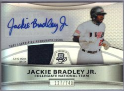 2010 Topps Platinum Jackie Bradley Jr. Collegiate National Team GUJ-Auto