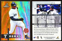 1998  Pinnacle Plus Artists Proofs Gold Frank Thomas