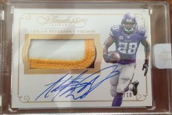 2016 Panini Flawless Adrian Peterson Auto Patch