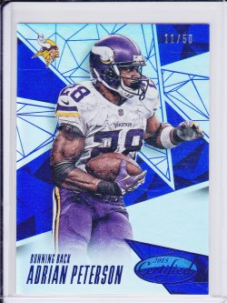 Adrian Peterson 2015 Certified Mirror Blue /50