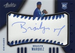 Brailyn Marquez 2021 Panini Absolute Rookie Baseball Material Signatures Blue