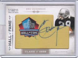 2011 Panini Playoff National Treasures HOF Patch Auto Eric Dickerson