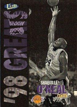 1998 Fleer Ultra 98 Greats Shaquille ONeal 1 of 4