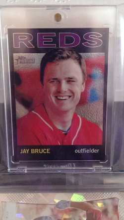 2013 Topps Heritage Jay Bruce Heritage Chrome Refractor