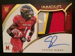 2015 Panini Immaculate Collection Collegiate Multisport Rookie Premium Patches Autographs #338 Stefon Diggs