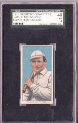 1909  T206 Piedmont 350-460 Heinie Wagner Bat on Rt Shoulder