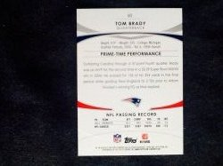 2012 Topps Prime Retail Tom Brady #50 Back
