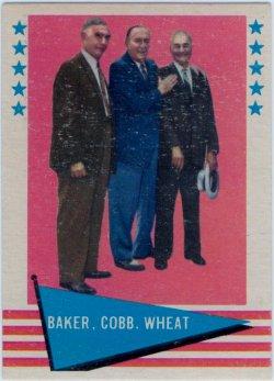 1961  Fleer Baseball Greats # 1 Baker,Cobb,Wheat Checklist