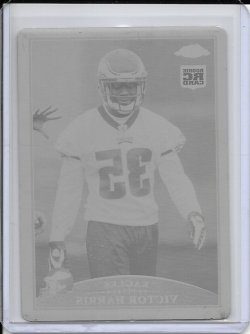 2009 Topps Chrome Yellow Printing Plate - Victor Harris