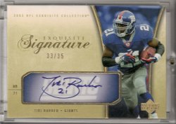 2005 Upper Deck Exquisite Collection Tiki Barber Signatures