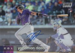 Yonathan Daza 2021 Topps Stadium Club Chrome Autograph