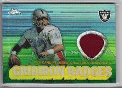 2003 Topps Chrome Gridiron Badges Jersey - Rich Gannon