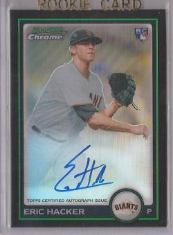 2010 Bowman Chrome Refractor Eric Hacker