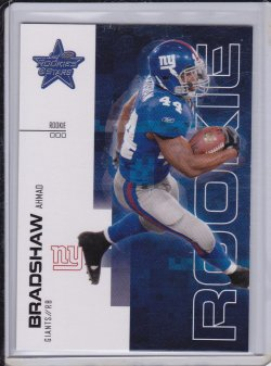 Ahmad Bradshaw 2007 Leaf Rookies and Stars RC /999