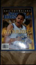 2015  Sports Illustrated 2015 NBA Champions Commemorative Issue Stephen Curry IP Autograph