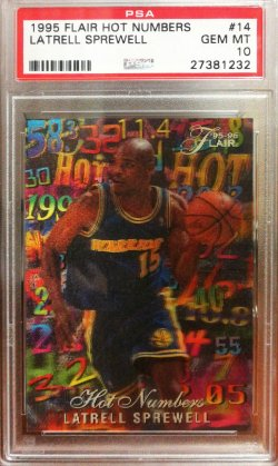 1995-96  Flair Hot Numbers Latrell Sprewell