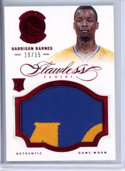 2012-13 Panini Flawless Harrison Barnes Ruby Jumbo Patch