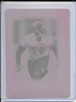 2005 Topps Chrome Magenta Printing Plate - Rian Wallace