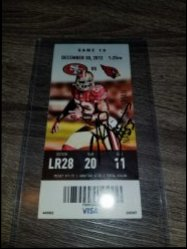 Navarro Bowman Ticket Stub IP Autograph