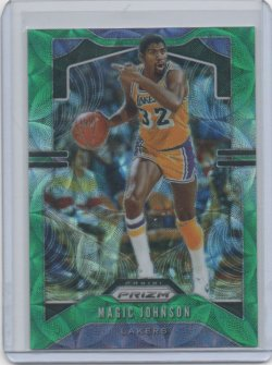 2019 Panini Prizm Magic Johnson green scope