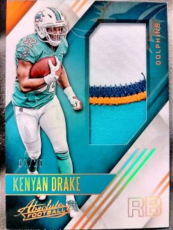 2016 Panini Absolute Kenyan Drake Absolute Rookie Jerseys Patch Parallel