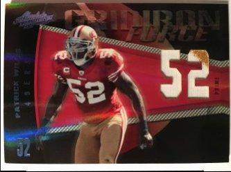 2010 Panini Absolute Memorabilia  Gridiron Force Material Prime Jersey Number #17 Patrick Willis /50